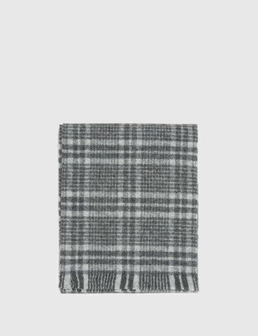 Norse Projects x Johnstons Lambswool Scarf - Grey Check