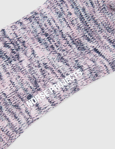 Norse Projects Bjarki Blend Socks - Boundary Blue