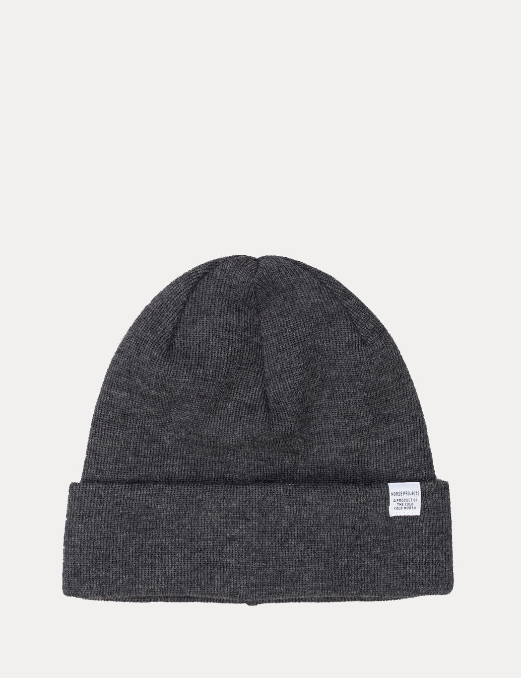 18342173d Norse Projects Top Beanie Hat - Charcoal Grey Melange