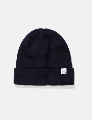 Norse Projects Top Beanie Hat - Dark Navy Blue