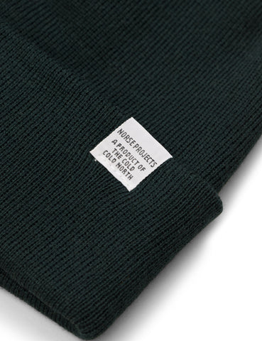 Norse Projects Top Beanie Hat - Quartz Green