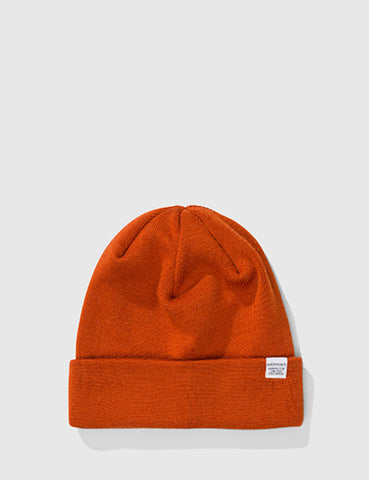 Norse Projects Top Beanie Hat - Ochre Orange
