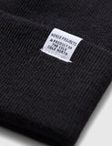 Norse Projects Top Beanie Hat - Black