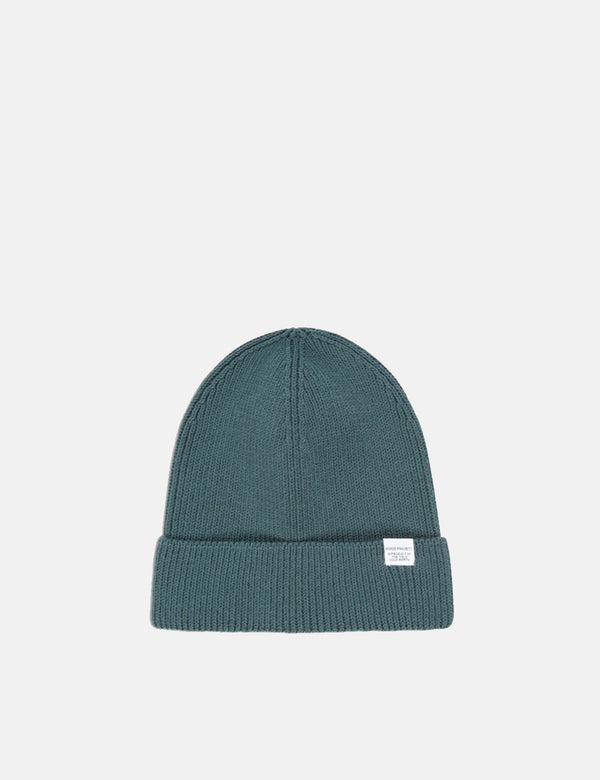 Norse Projects Cotton Watch Beanie Hat - Verge Green