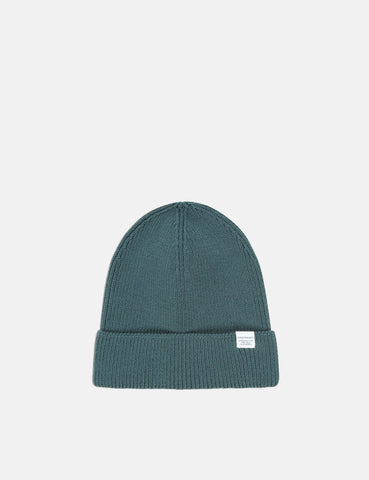 92fe1d7a057 Norse Projects Cotton Watch Beanie Hat - Verge Green ...