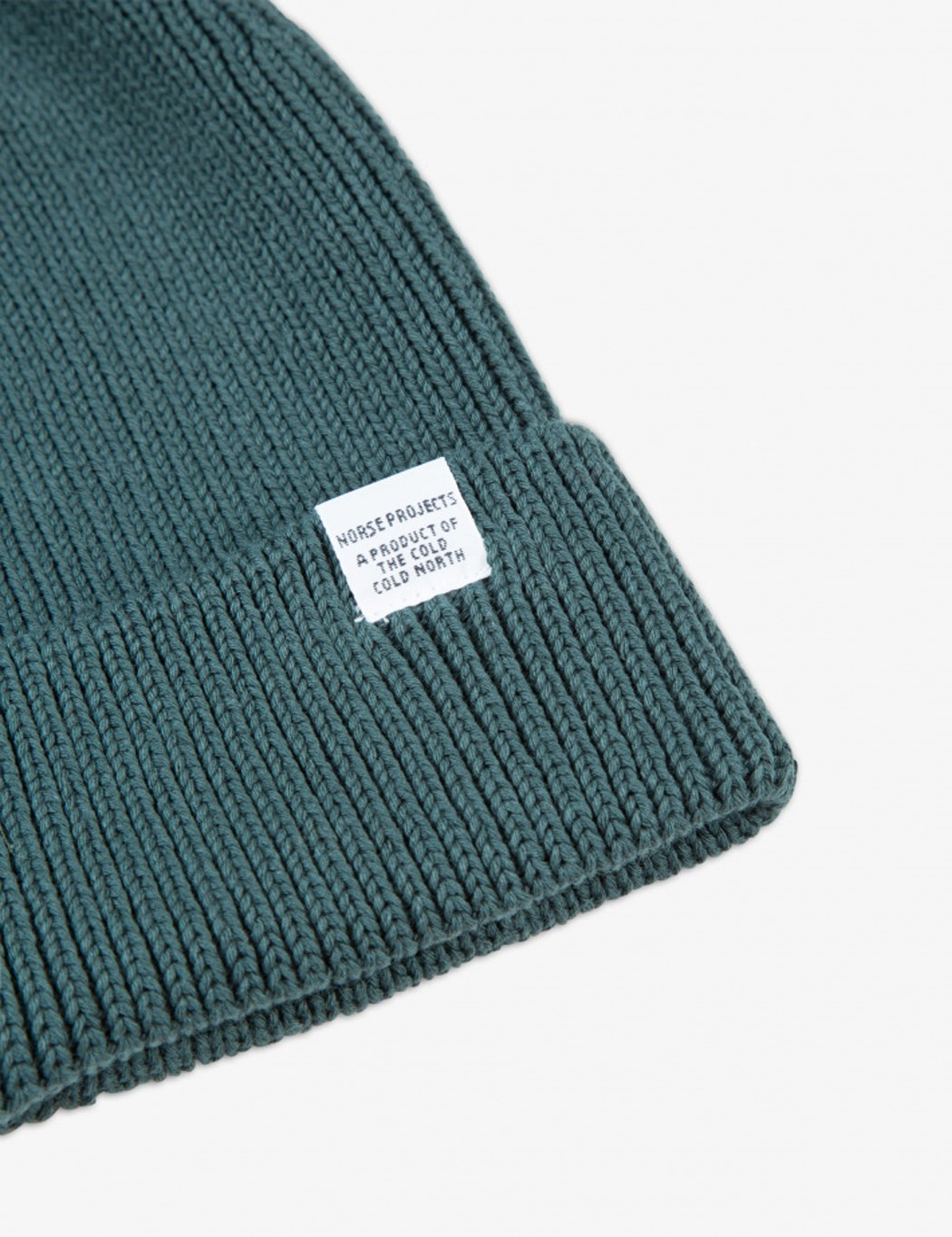 2fa25a38569 ... Norse Projects Cotton Watch Beanie Hat - Verge Green ...