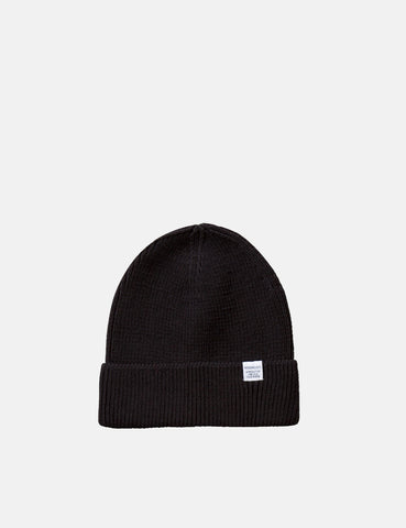 2fd5a8ff6e947 Norse Projects Cotton Watch Beanie Hat - Black ...