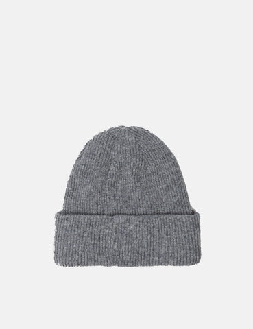 Norse Projects 'Norse' Beanie Hat Brushed (Lambswool) - Light Grey Melange