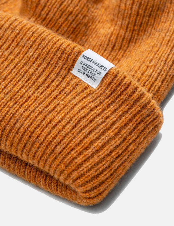 Norse Projects Beanie Hat Brushed (Wool) - Montpellier Yellow