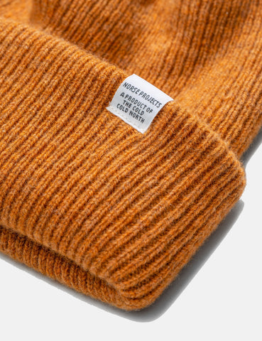 Norse Projects Norse Beanie Hat - Montpellier Yellow