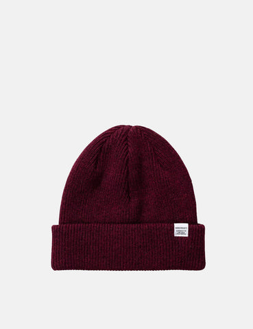 Norse Projects 'Norse' Beanie Hat Brushed (Wool) - Mulberry Burgundy