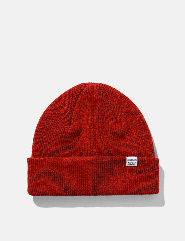 Norse Projects Norse Beanie - Carmine Red