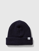 Norse Projects Beanie Hat Brushed (Wool)- Navy Blue