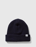 Norse Projects 'Norse' Beanie Hat Brushed (Lambswool)- Navy Blue