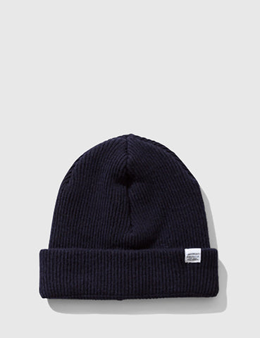 Norse Projects Norse Beanie Hat - Navy Blue
