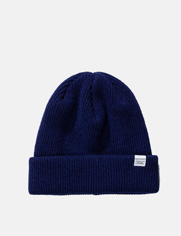 Norse Projects 'Norse' Beanie Hat Brushed (Wool) - Twilight Blue