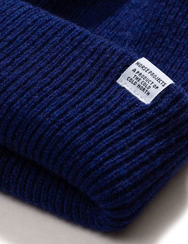 Norse Projects 'Norse' Beanie Hat Brushed (Lambswool) - Twilight Blue