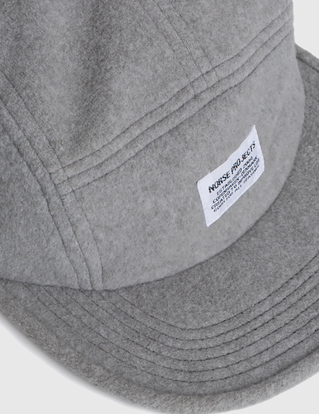 Norse Projects Polartec 5 Panel Cap - Light Grey