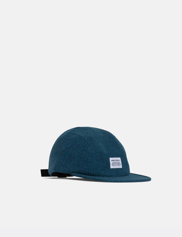 Norse Projects Polartec 5 Panel Cap - Sodalite Blue