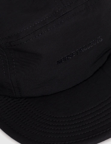 Norse Projects 5-Panel Gros Grain Cap - Black