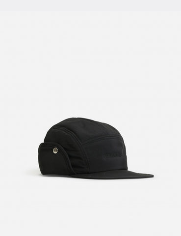 Norse Projects 6-Panel Ear Flap Cap (Nylon) - Black