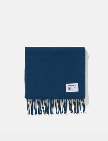 Norse Projects x Johnstons Lambswool Scarf - Sodalite Blue
