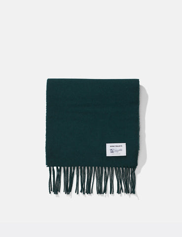 Norse Projects x Johnstons Lambswool Scarf - Moss Green