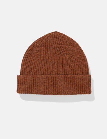 Norse Projects Lambswool Beanie Hat - Zircon Brown