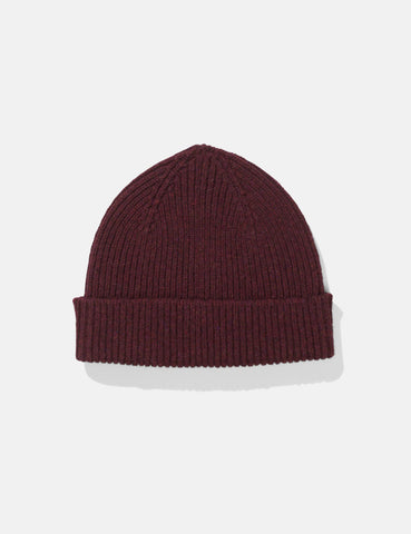 Norse Projects Lambswool Beanie Hat - Hermatite Red