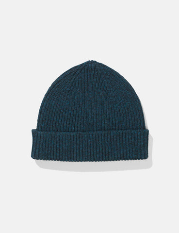 Norse Projects Lambswool Beanie Hat - Dark Navy Blue
