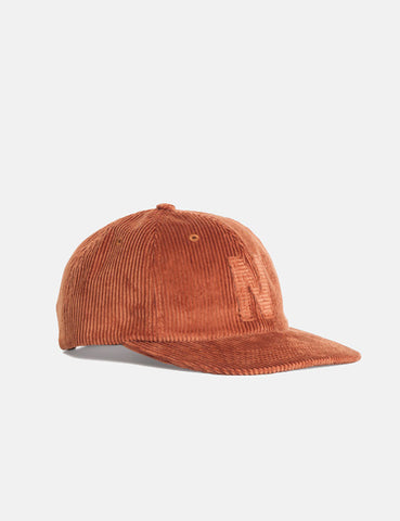 Norse Projects 6-Panel Cap (Corduroy) - Zircon Brown