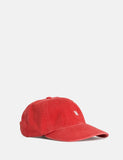 Norse Projects Light Twill Sports Cap - Coral Red