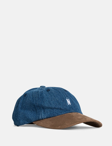 Norse Projects Denim Sports Cap - Light Indigo Blue