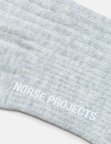 Norse Projects Bjarki Cotton Linnen Socks - Sand
