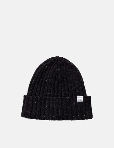 Norse Projects Neps Beanie Hat - Charcoal Melange Grey