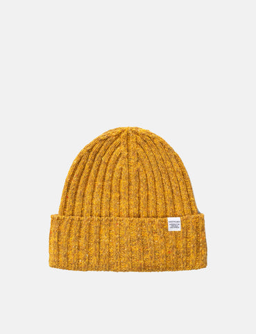Norse Projects Neps Beanie Hat (Lambswool) - Mustard Yellow