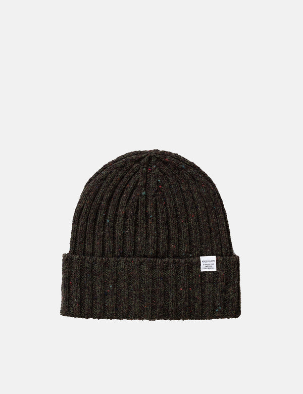 Norse Projects Neps Beanie Hat (Wool) - Beech Green