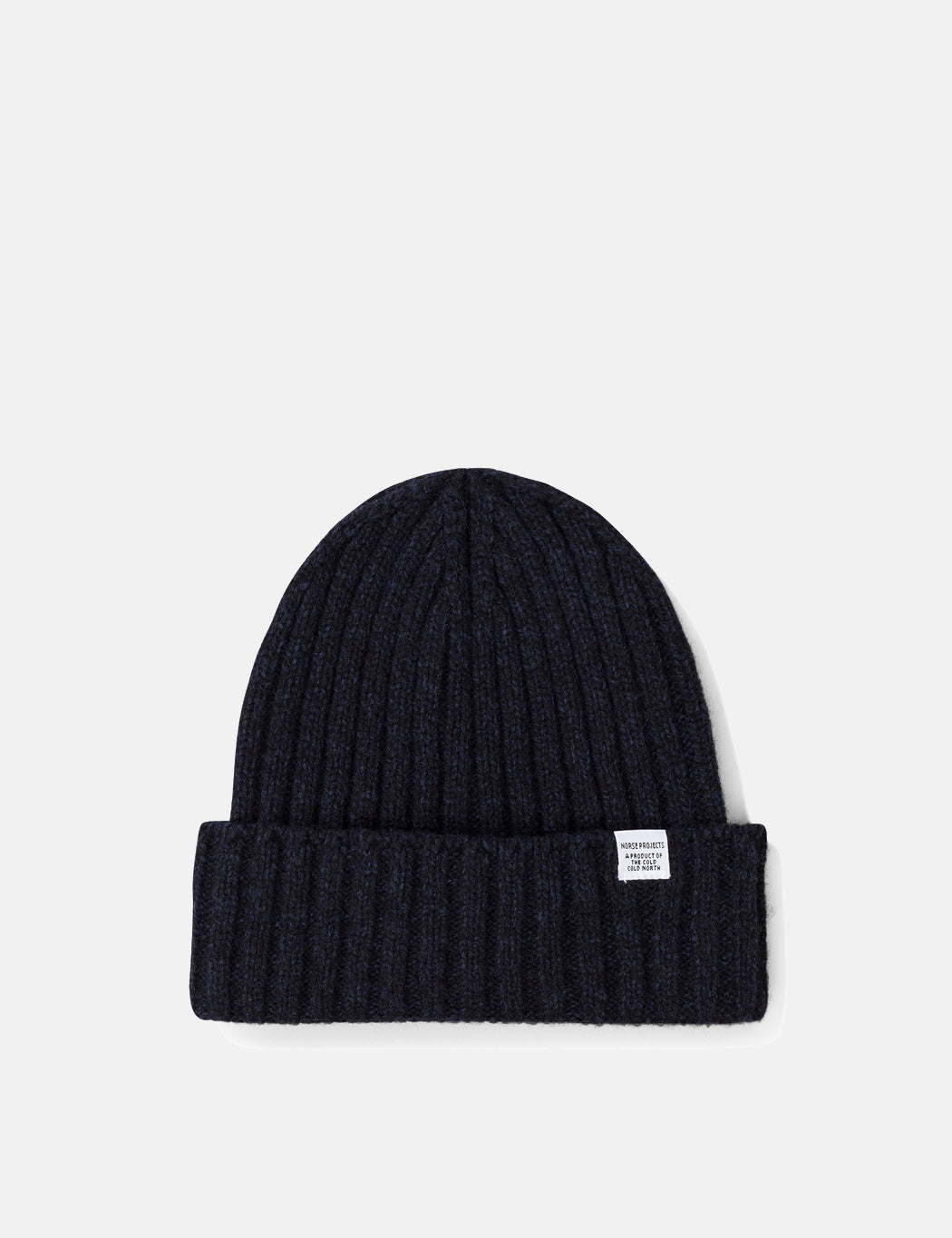 Norse Projects Wide Rib Beanie Hat in Dark Navy 24182d61ae4