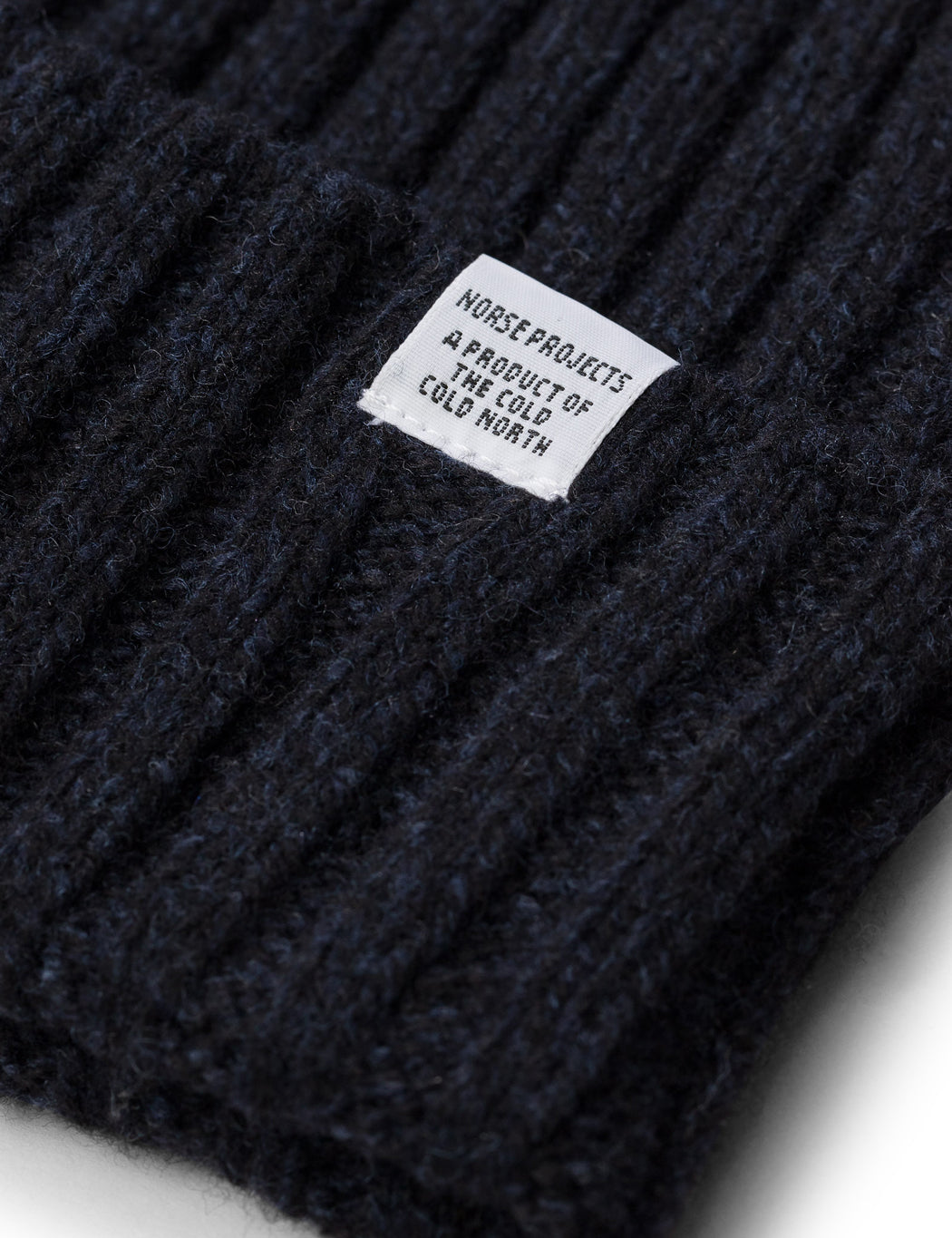 efd1e544a56 ... Norse Projects Wide Rib Beanie Hat - Dark Navy