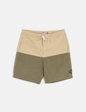 Satta Nasi Board Shorts - Khaki / Green