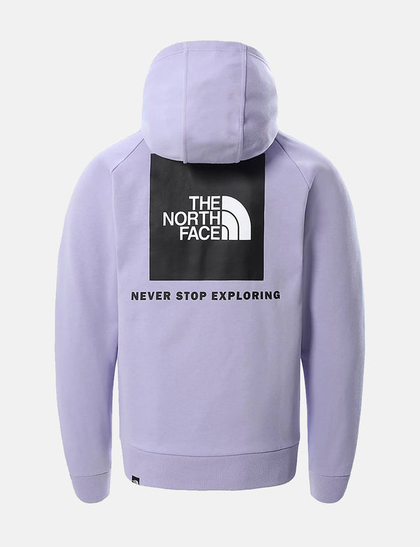North Face Raglan Red Box Hoodie - Lavender