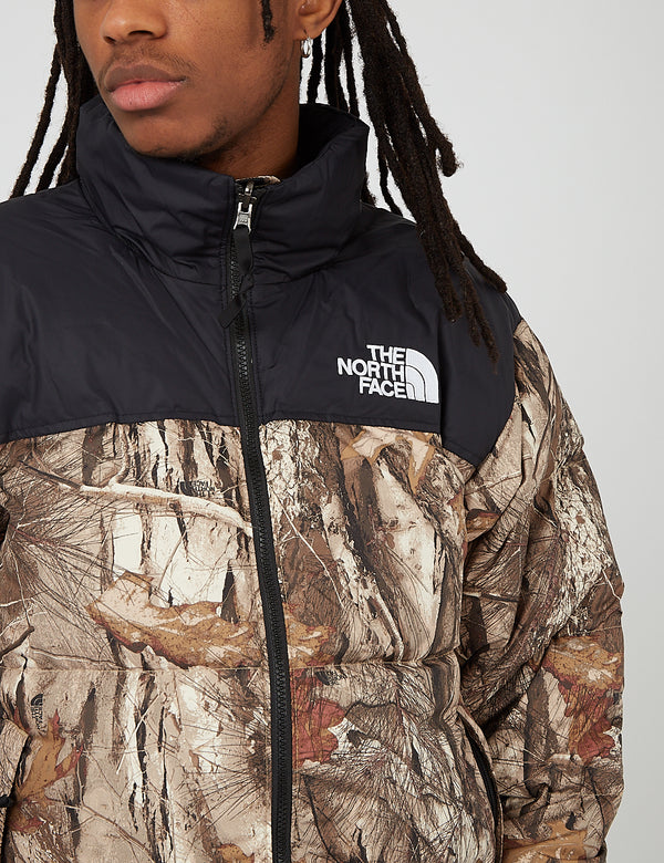 North Face 1996 RTO Nuptse Jacket - Kelptan Forest Floor Print