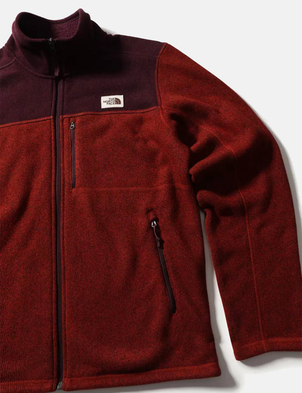 North Face Gordon Lyons Full-Zip Fleece - Brandy/Dark Brown
