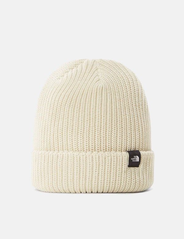 North Face Fisherman Beanie - Vintage White