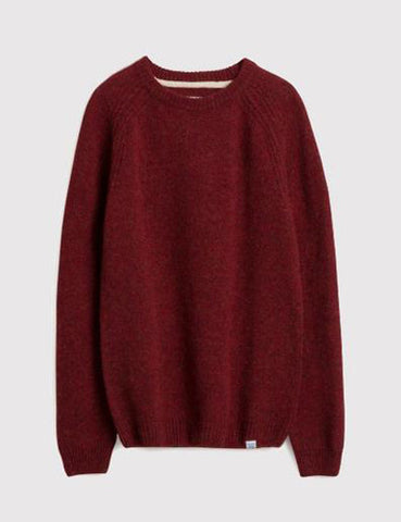 Norse Projects Birnir Shetland Jumper - Red Clay