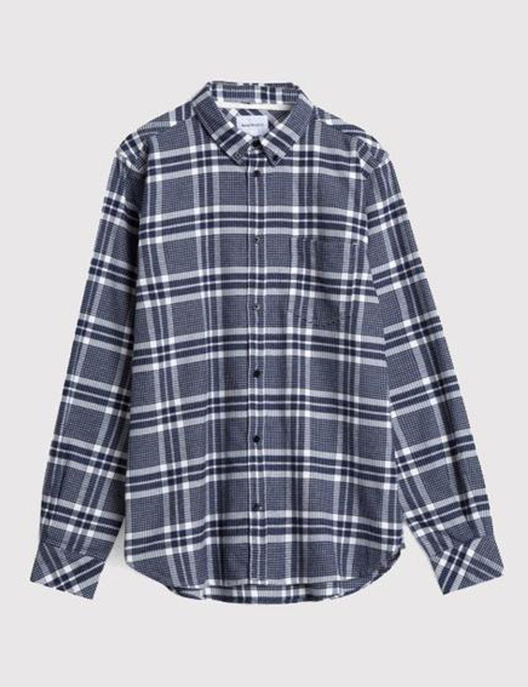 Norse Projects Hans Checked Flannel Shirt - Navy