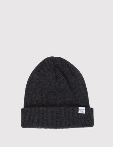 Norse Projects Norse Beanie Hat - Charcoal Grey