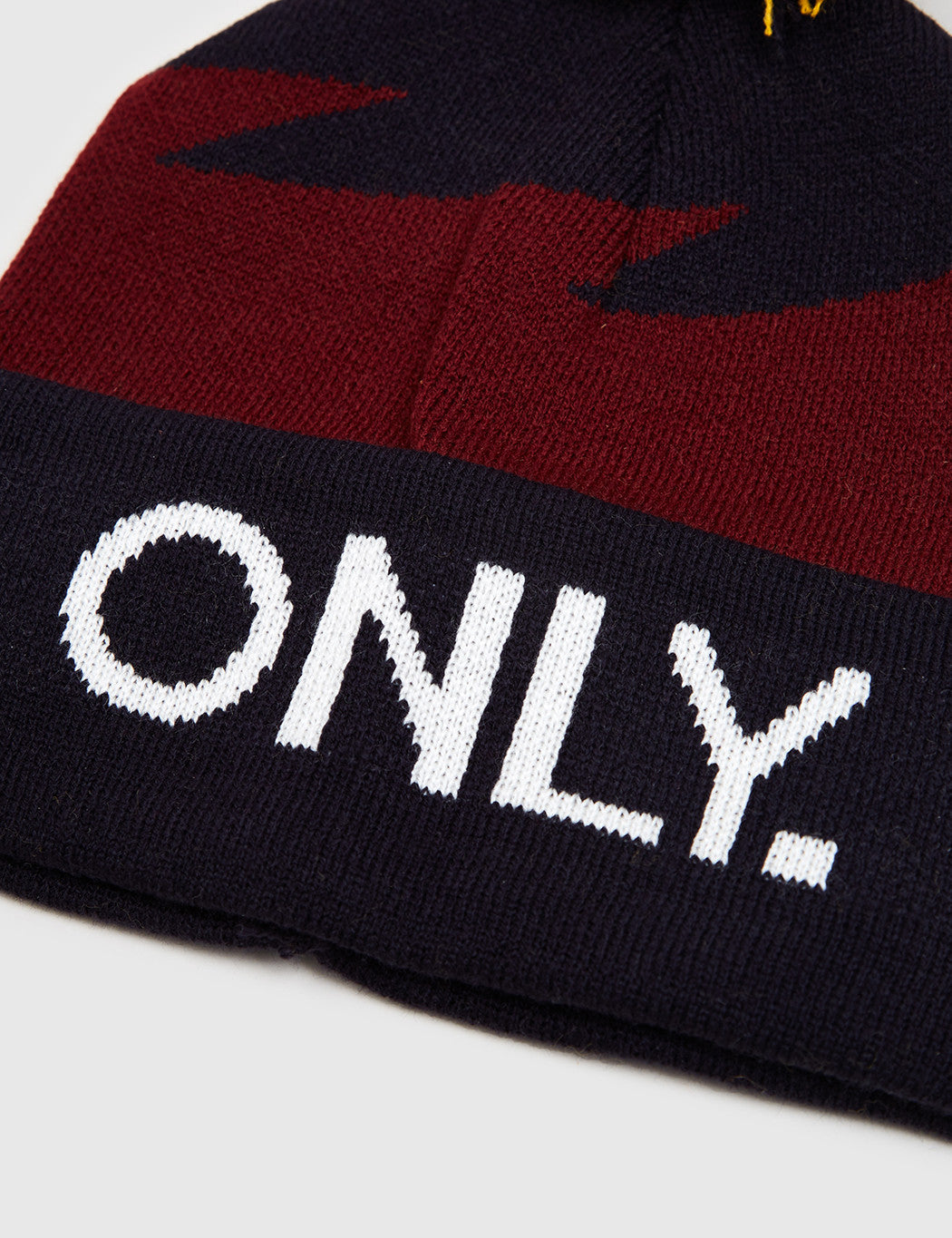 Only NY Boltz Beanie Hat - Navy/Burgundy