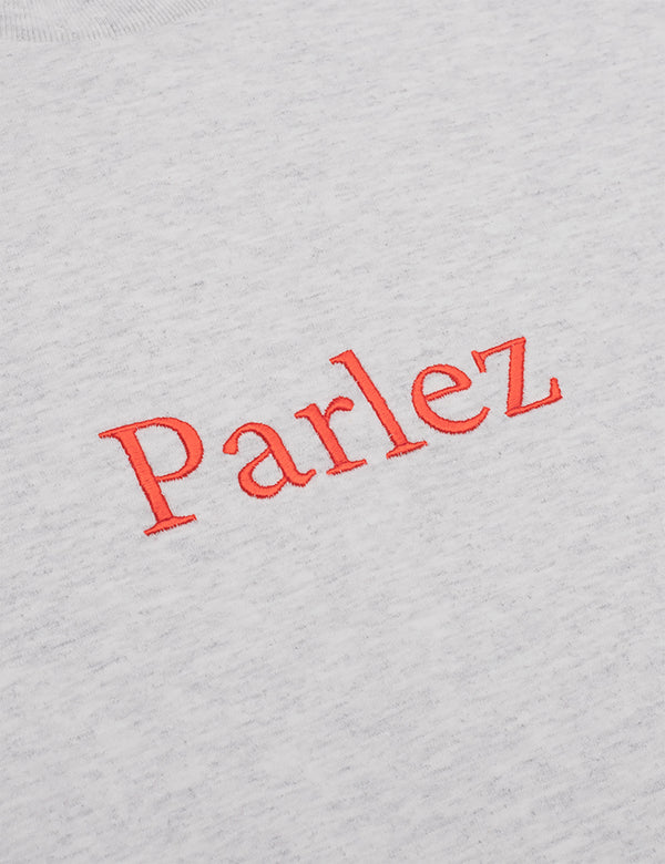 Parlez Skutsje T-Shirt - Grey Heather/Red