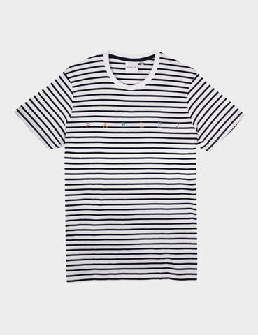 Parlez United Stripe T-Shirt - Navy